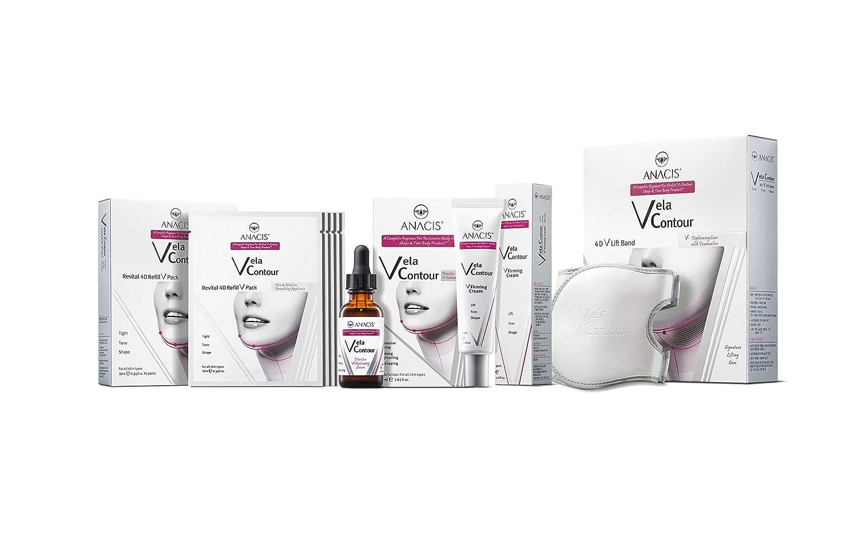 Double Chin Reducer Neck Line Face Lift Slim Vela Contour (Serum Masks Cream Belt)