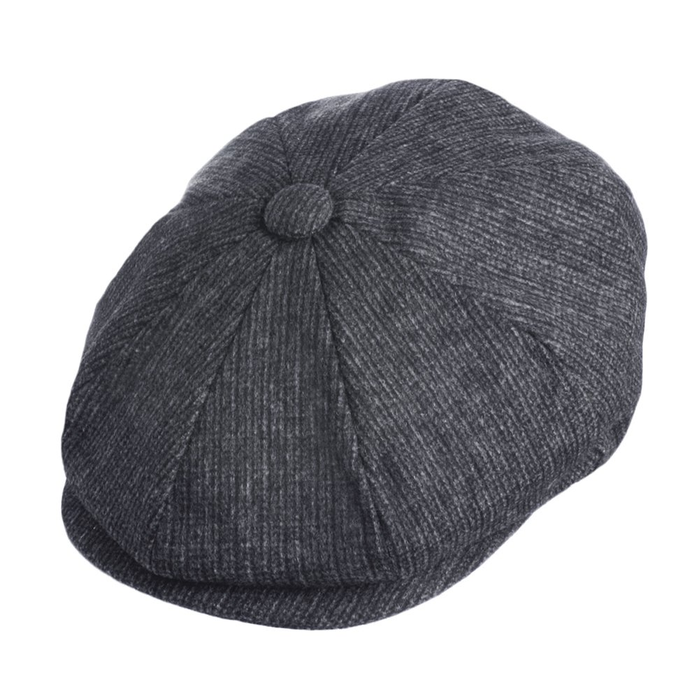 Jaxon Union Newsboy Cap (X-Large, Charcoal)