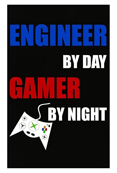 c7924ee50c Amazon.com  Engineer by Day Gamer by Night Internet Nerd Geek ...