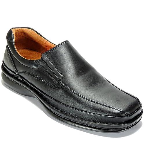 CACTUS - Mocasín Cosido Piel Estilo 24 Horas - Modelo 4002, color NEGRO, Talla 44: Amazon.es: Zapatos y complementos