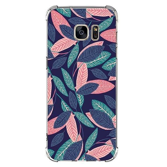 Funda Compatibles con Samsung Galaxy S6 S7 Carcasa Silicona Transparente Protector TPU Airbag Anti-Choque Ultra-Delgado Anti-arañazos Sandía Caso para ...