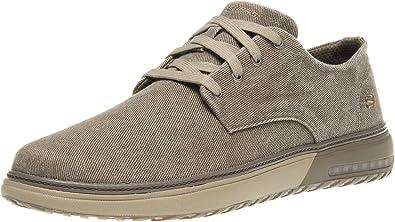 antecedentes cargando Patológico  Amazon.com | Skechers Folten Brisor Mens Lace-Up Shoe 7 UK/ 8 US Taupe |  Shoes