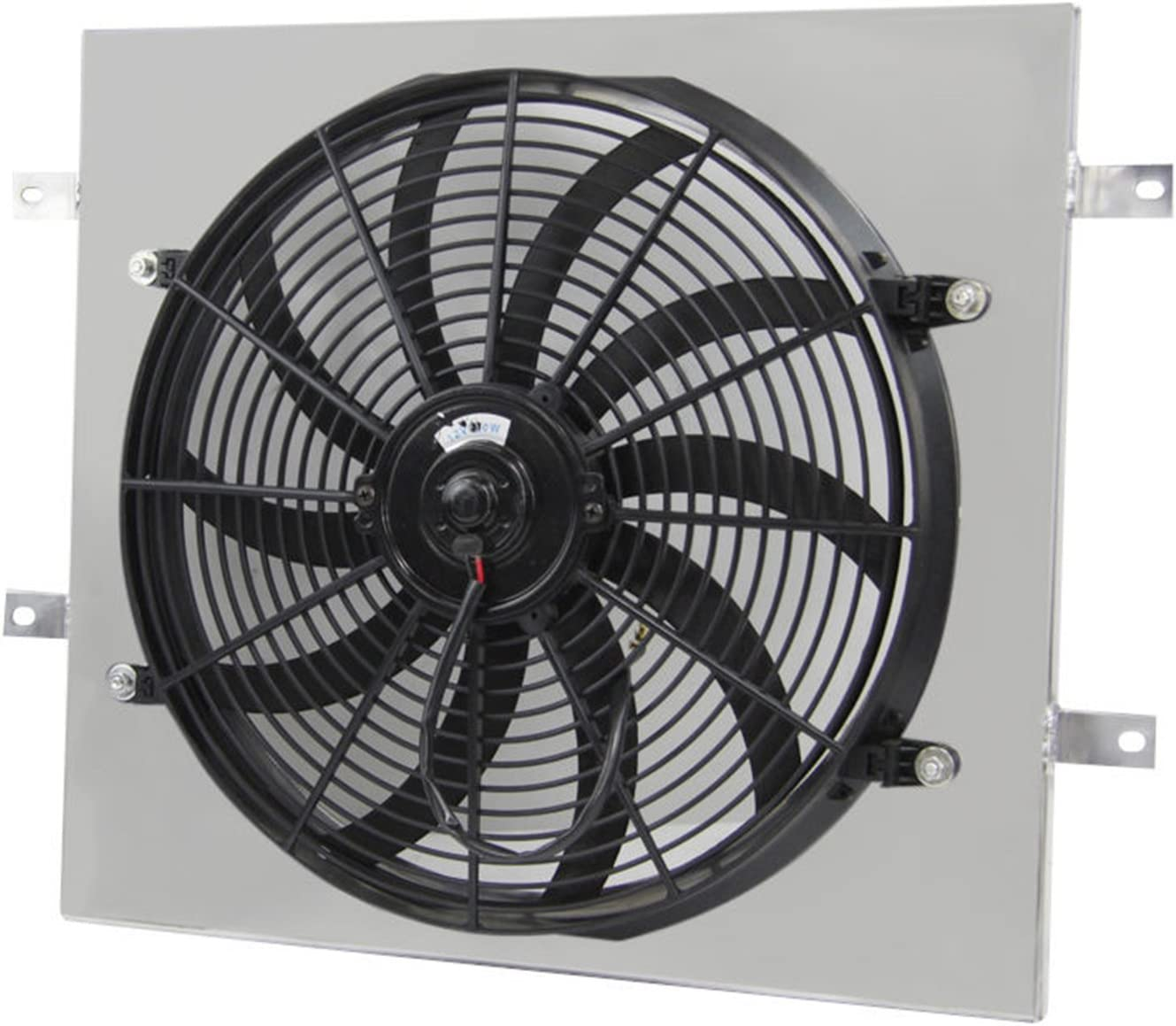 "Primecooling 16"" 160W Cooling Fan+ Aluminum Shroud for Jeep Wrangler YJ,TJ 1987-2006"