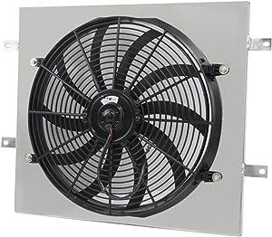 "Primecooling 16"" 160W Cooling Fan+ Aluminum Shroud for Jeep Wrangler YJ,TJ 1987-2006"