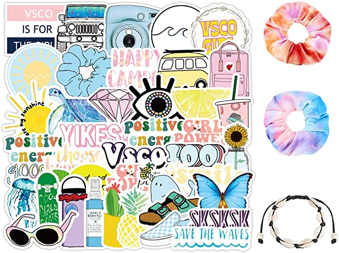 Children S Bedroom Girl Decor Decals Stickers Vinyl Art 50 Pcs Lot Simple Cute Scrunchie Vsco Sticker Pack Diy Laptop Scrunchie Turtle Home Garden