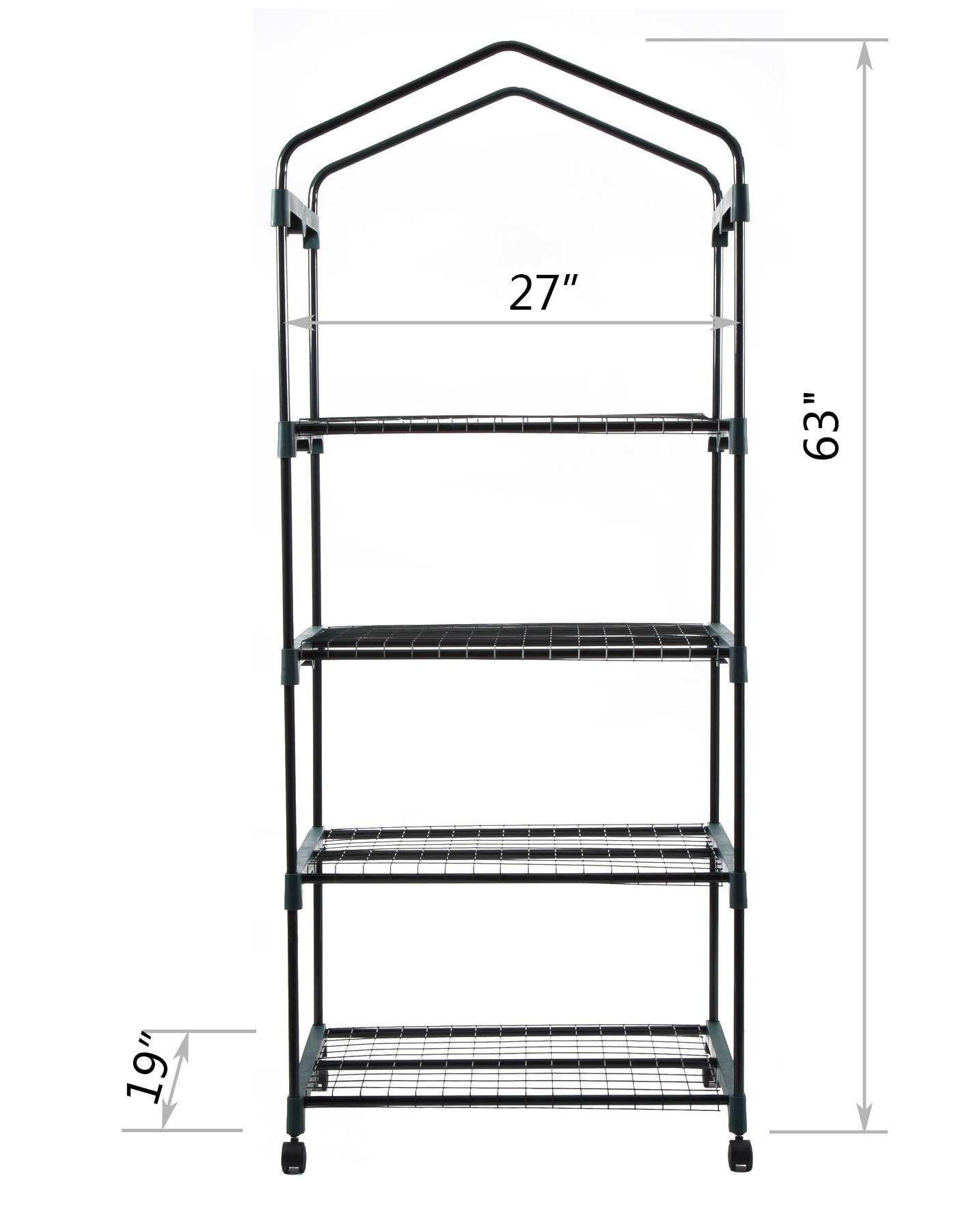 GOJOOASIS 4 Tier Mini Portable Garden Greenhouse on Wheels Plants Shed Hot House for Indoor and Outdoor by GOJOOASIS (Image #3)