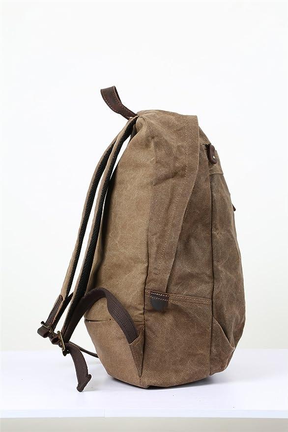e751cc41b743 Amazon.com: Shengjuanfeng Men's Shoulder Bag Oil Wax Canvas Bag ...