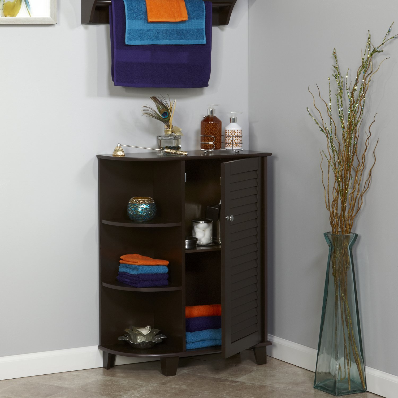 Amazon.com: RiverRidge Home Ellsworth Floor Cabinet with Side ...