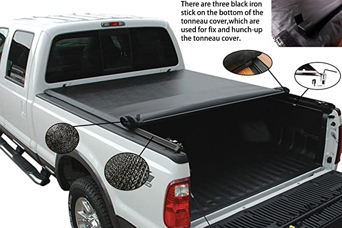 Amazon Com Fuyu Soft Tonneau Cover For Ford F 150 2015 2017 With 6 5ft 78in Bed Only Automotive