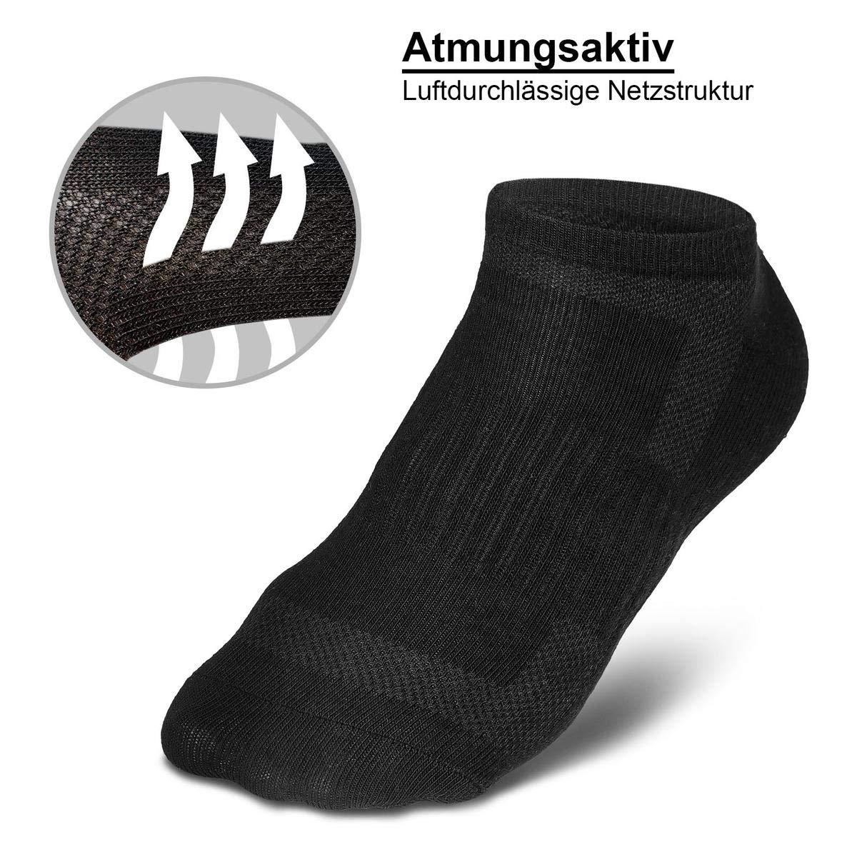 ROYALZ Chaussettes de sport 10 paires de chaussettes pour hommes et femmes courtes pack 10 chaussettes respirantes l/ég/ères et confortables
