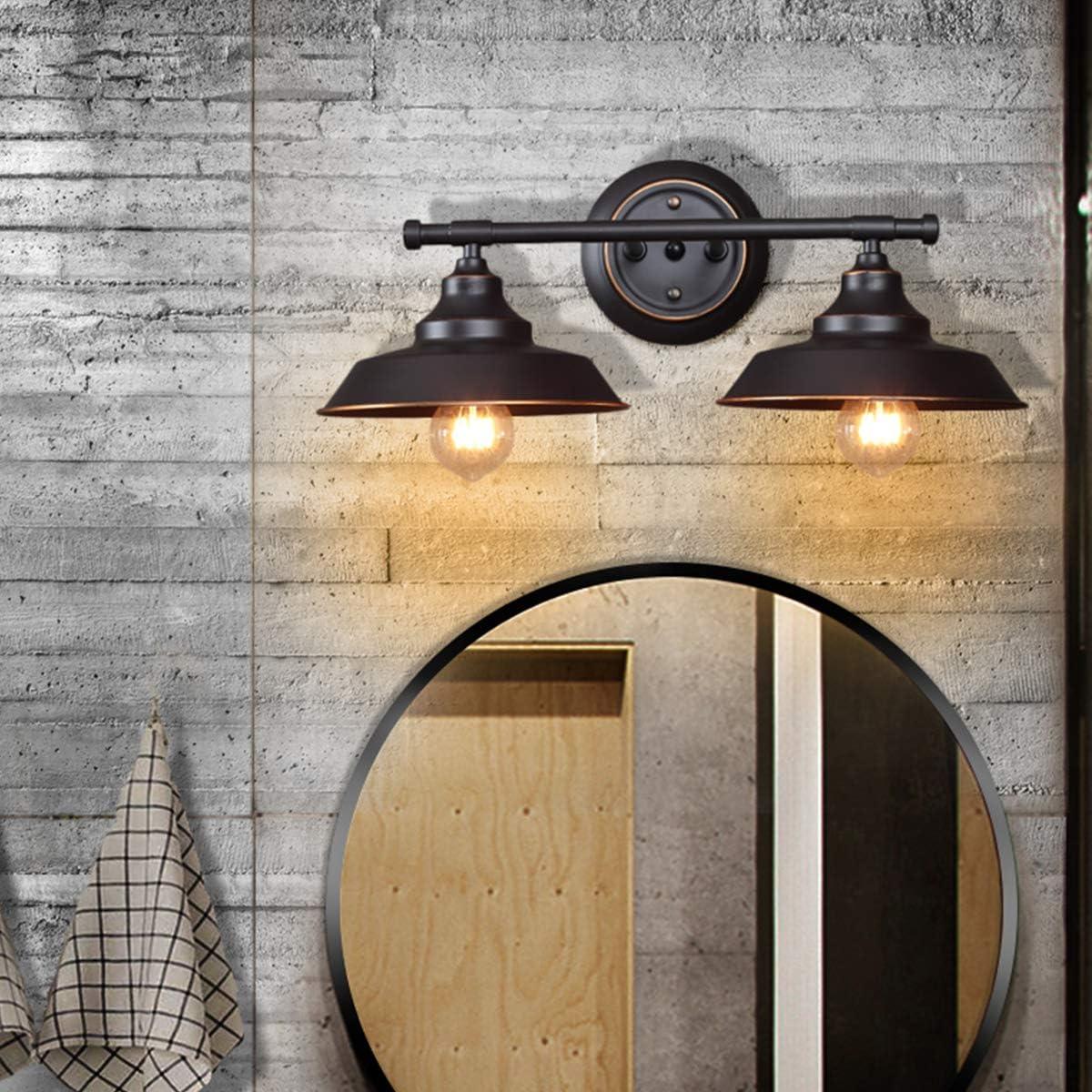 Vintage Badleuchte Badlampe Wand Klighten Spiegelleuchte Bad Spiegellampe 4 Flamming L/änge: 56cm//22zoll Ohne Leuchtmittel Schwarz Metall Wandlampe Wandleuchte E27 Bilderleuchte