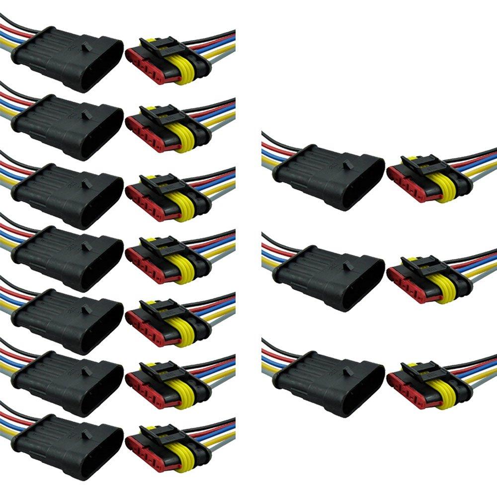 Mintice™ 10 X 2 vie Pin kit presa auto auto impermeabile connettore elettrico con AWG calibro marino