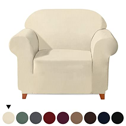 Fabulous Jacquard Fit Stretch Sofa Cover 1 Piece Elastic Furniture Protector Couch Cover Polyester Spandex Soft Polar Fleece Plaid Non Slip Sofa Slipcovers Onthecornerstone Fun Painted Chair Ideas Images Onthecornerstoneorg