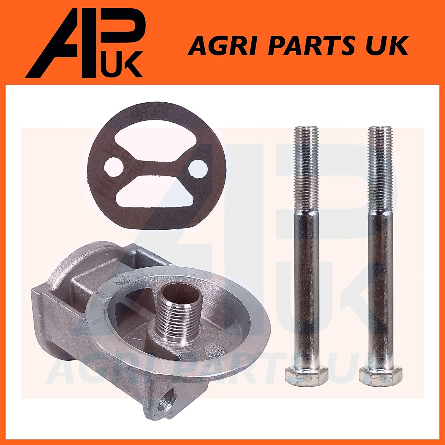 APUK Spin on Filter Head /& Gasket Bolts Compatible with Massey Ferguson 35 35X 65 133 135 Tractor