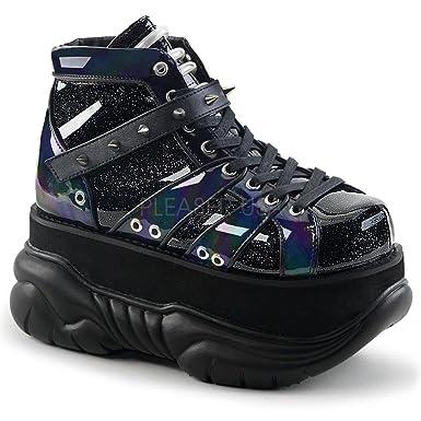 0ec389ac9f6 Demonia NEPTUNE-100 Men 3 quot  Platform Lace-up Shoe