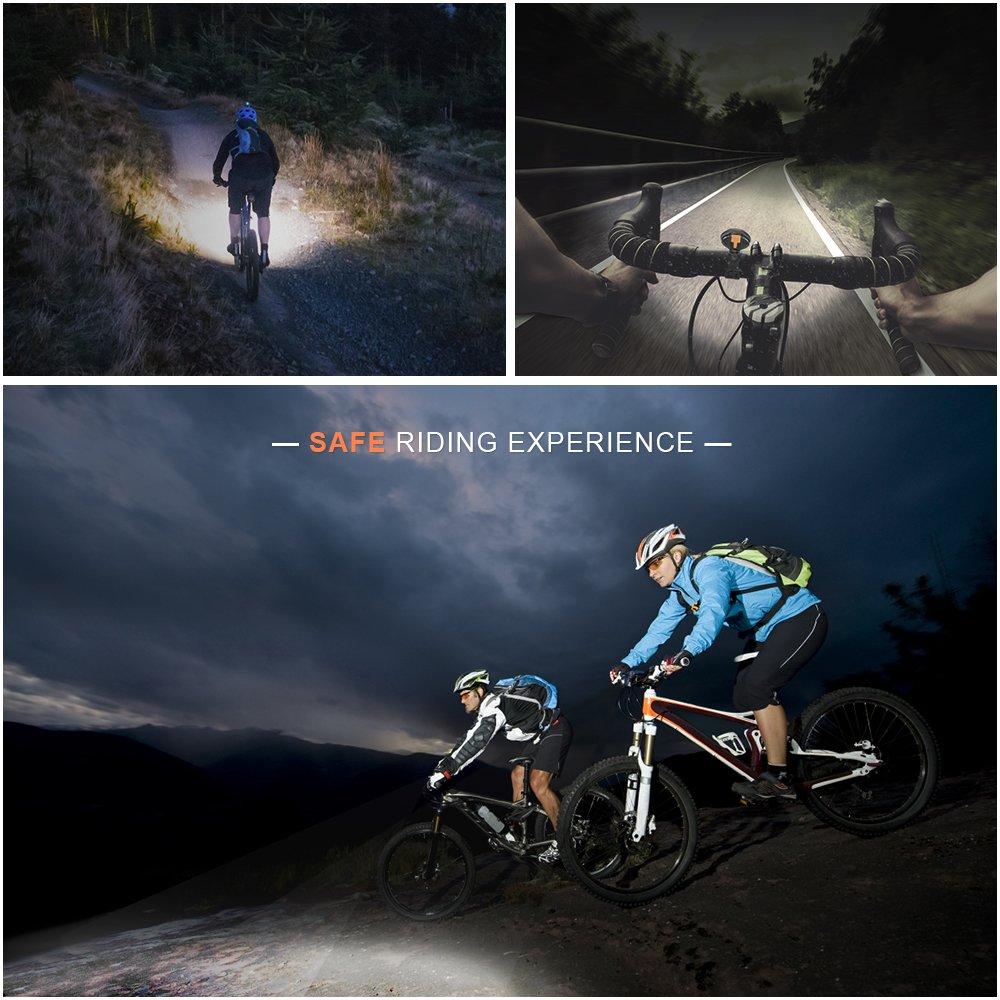 LED Bike Headlight Bicycle Front Light,Hoyxel EG27 Bike Light USB Rechargeable Super Bright Bicycle Front Light IP65 Waterproof Flashlight