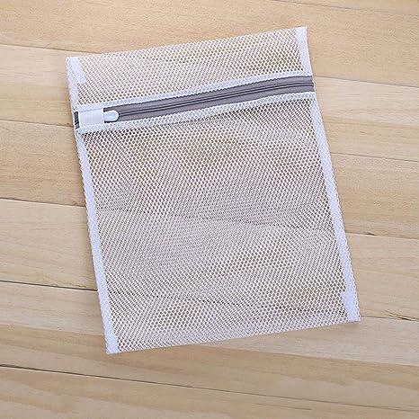 FOONEE - Bolsa de lavandería para Ropa Delicada (7 Bolsas de Malla Gruesa, Reutilizables, con Cremalleras para Lavadora y Secadora, 1 Unidad, Color ...