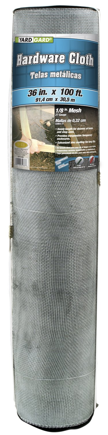 G & B 308183BP Mesh Hardware Cloth, 3-Feet by 100-Feet by 1/8-Inch