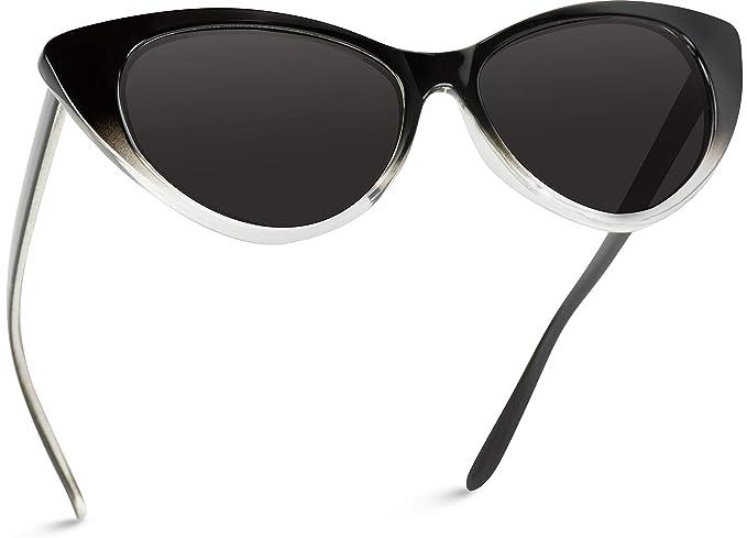 Amazon.com: Gafas de sol de ojo de gato, estilo vintage ...