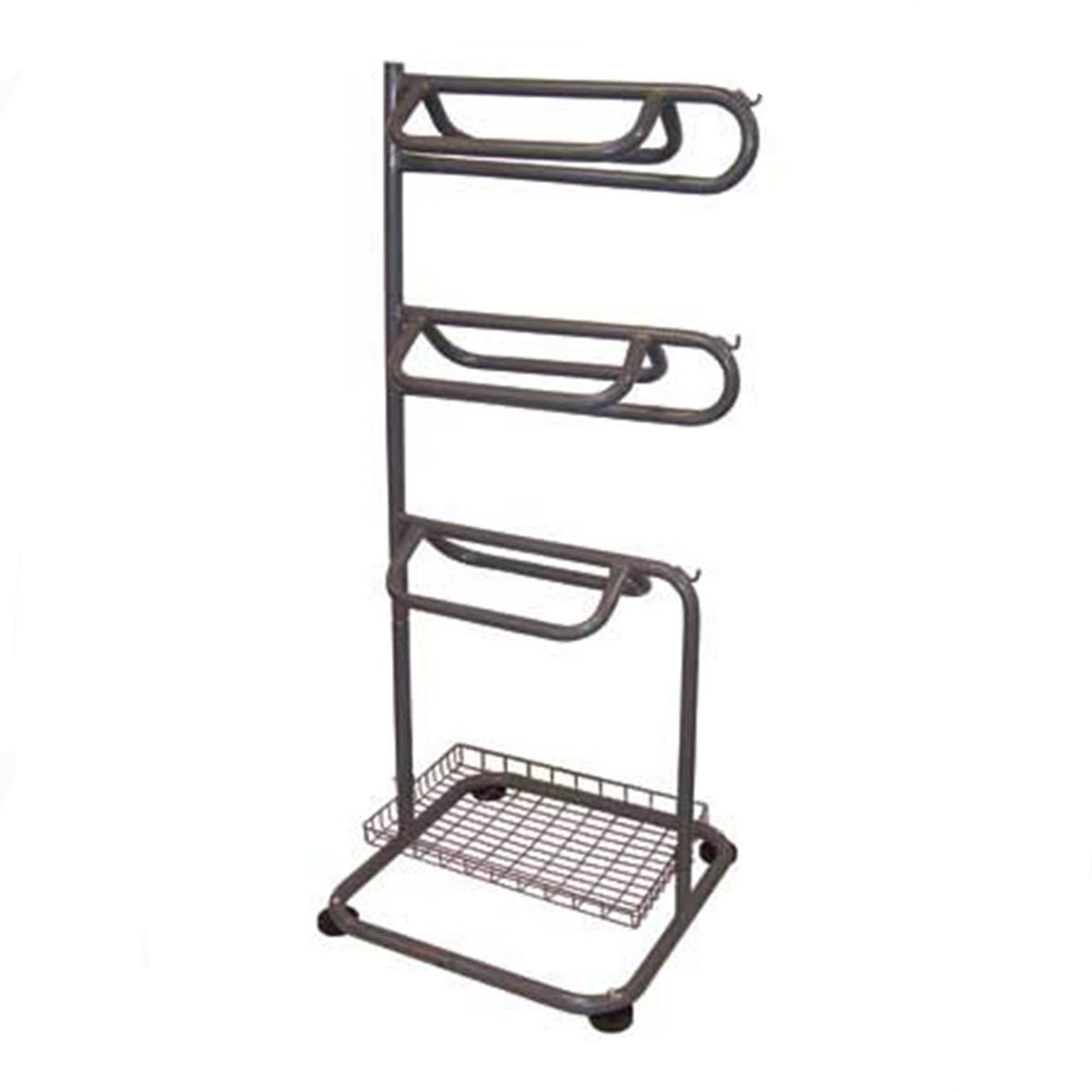 BACKYARD EXPRESSIONS PATIO · HOME · GARDEN 909094 3-Tier Saddle Rack with Accessory Basket, One Size by BACKYARD EXPRESSIONS PATIO · HOME · GARDEN
