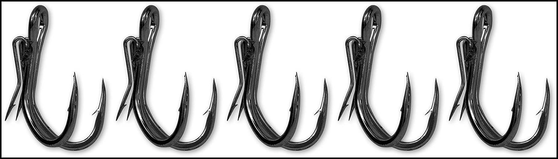 Black Cat Welshaken Ghost Double Hook 4//0 schwarznickel