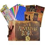 Our Adventure Book,80 loose-leaf pages DIY Photo Album,Anniversary Scrapbook,Wedding Photo Album