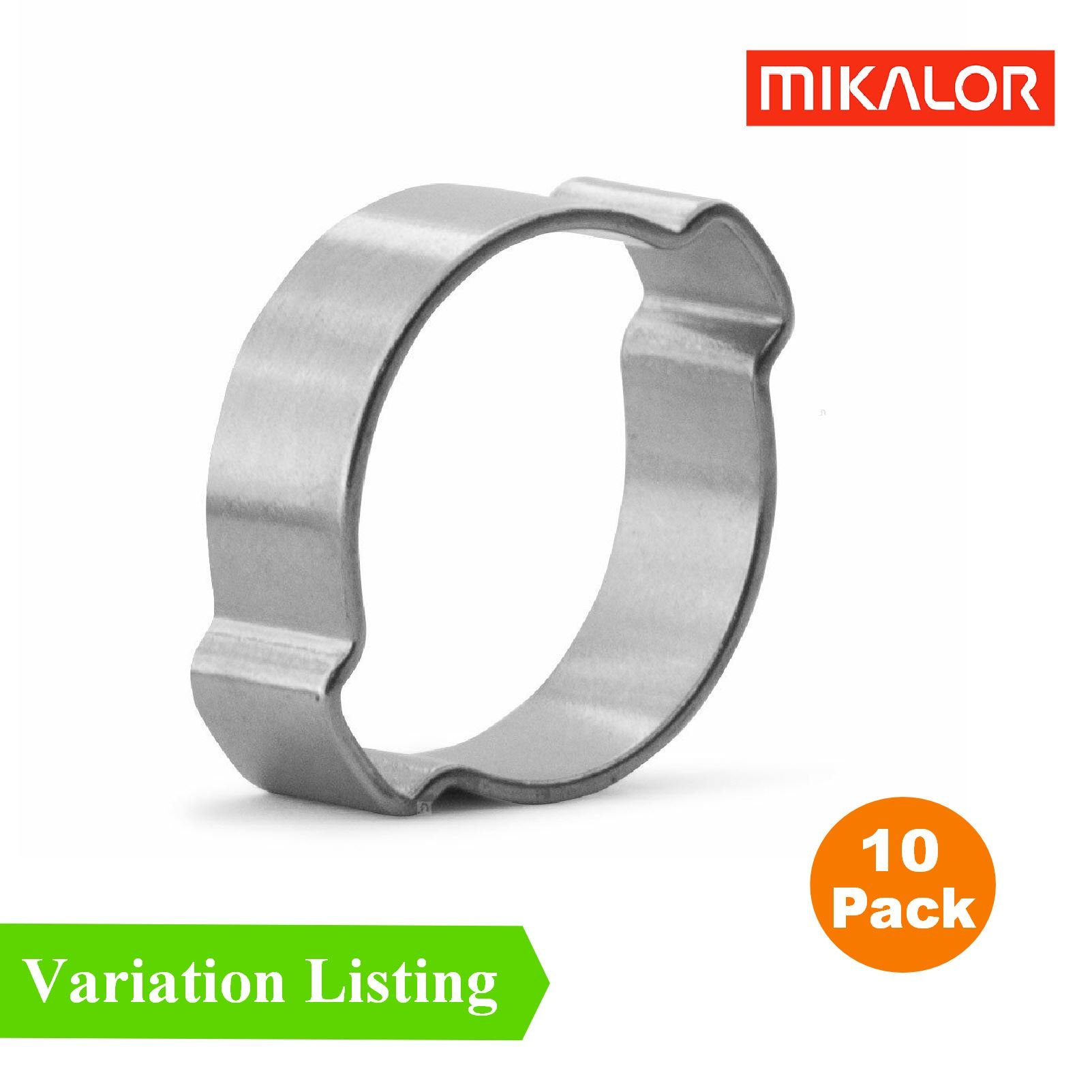 Mikalor Double Ear O Clips Stainless Steel Fuel Air Water Clamps Hose Pipe Crimp