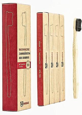 99PANDAS | Set de 4 cepillos de dientes biodegradables de bambú ...