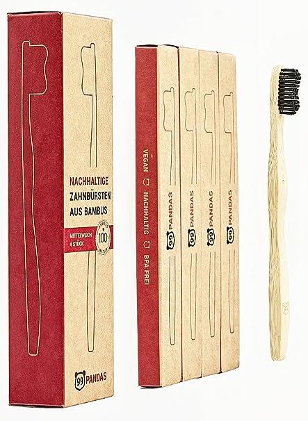 99Pandas | Bambú Cepillo de dientes (4 unidades)