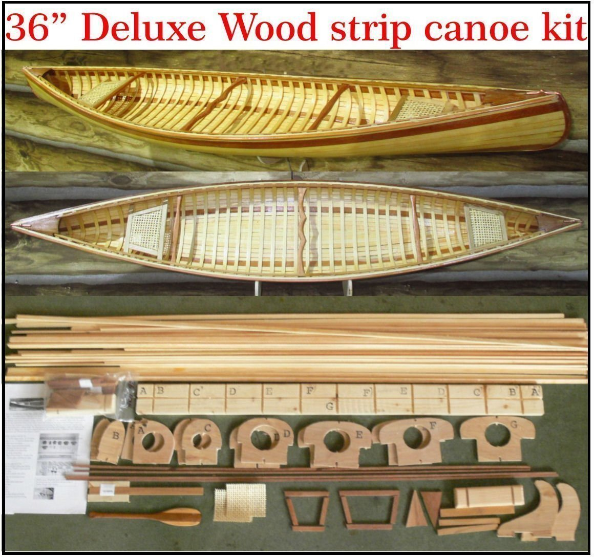 36 E.M. White Guide strip canoe kit