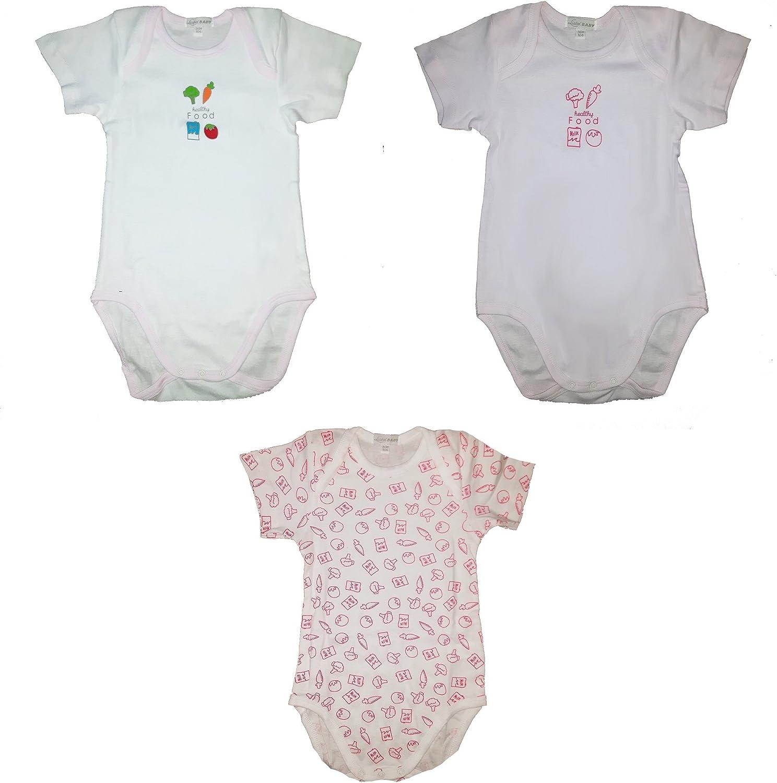 Liabel 3 Body neonata Mezza Manica 100/% Cotone Art 05832//1407//04 Rosa