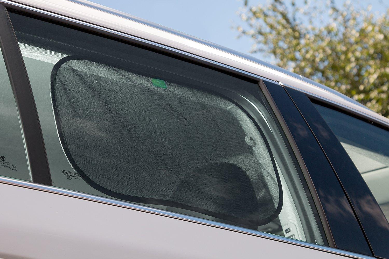 Set de 2 parasoles para coches universal para protecci/ón de toda la familia de rayos UV de alta densidad se instalan en segundos