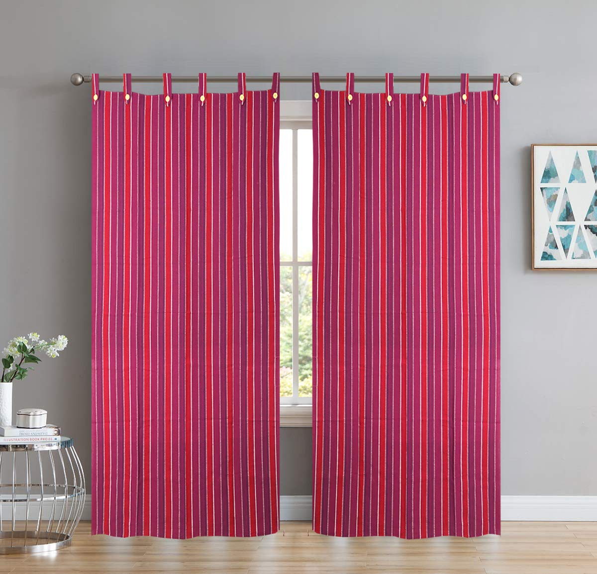Colourful cotton curtain