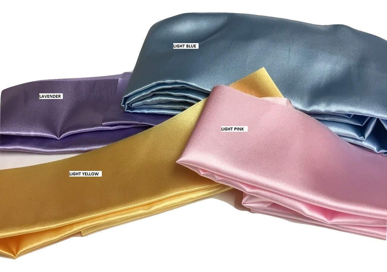 Cord Cover Aqua Satin Fabric Handmade Variety of Sizes Up to 15 Feet