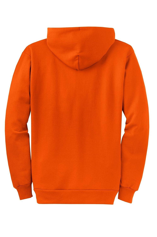 Core Fleece Full-Zip Hooded Sweatshirt Port /& Company PC78ZH Orange M