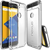 Ringke Fusion Compatible with Nexus 6P Case Clear PC Back TPU Bumper with Screen Protector Drop Protection, Shock…