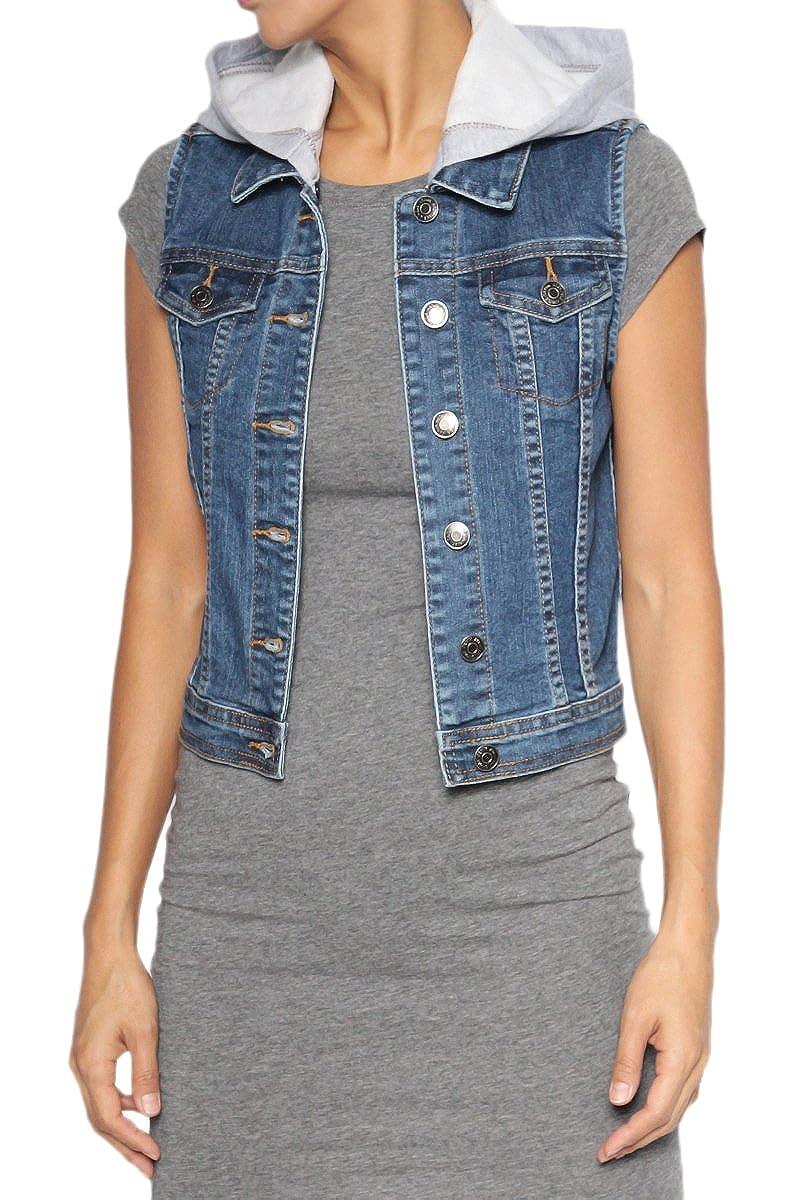 TheMogan Women's Hooded Denim Vest Sleeveless Jean Jacket CY6251H-1-M_MED_2S