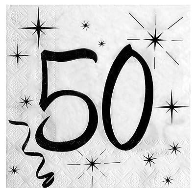 Santex 5241 - Servilletas para cumpleaños, 20 unidades, color blanco: Hogar