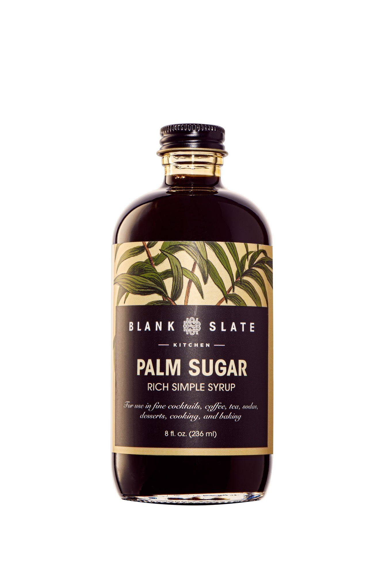 Palm Sugar Rich Simple Syrup | by Blank Slate Kitchen | 8 ounce | Cocktail Mixer or Dessert Topping (pack of 2) by Blank Slate Kitchen