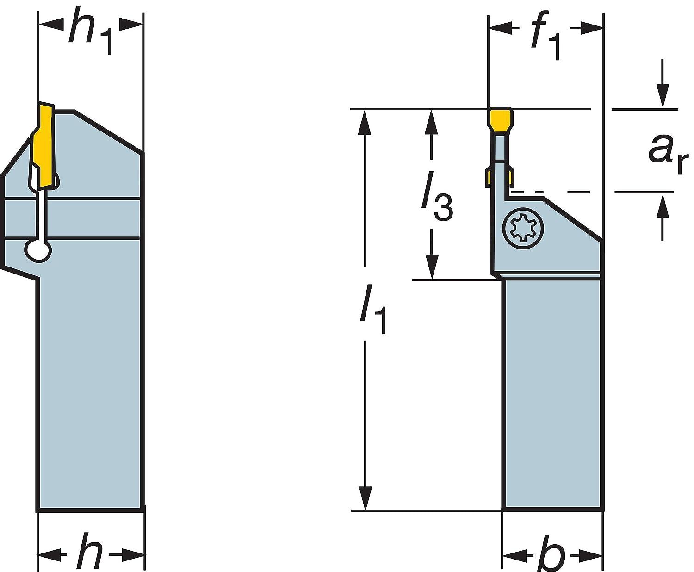 0.421 Maximum Depth of Cut Sandvik Coromant RF123F040-10B Steel CoroCut 1-2 Shank Tool for Parting and Grooving Holder