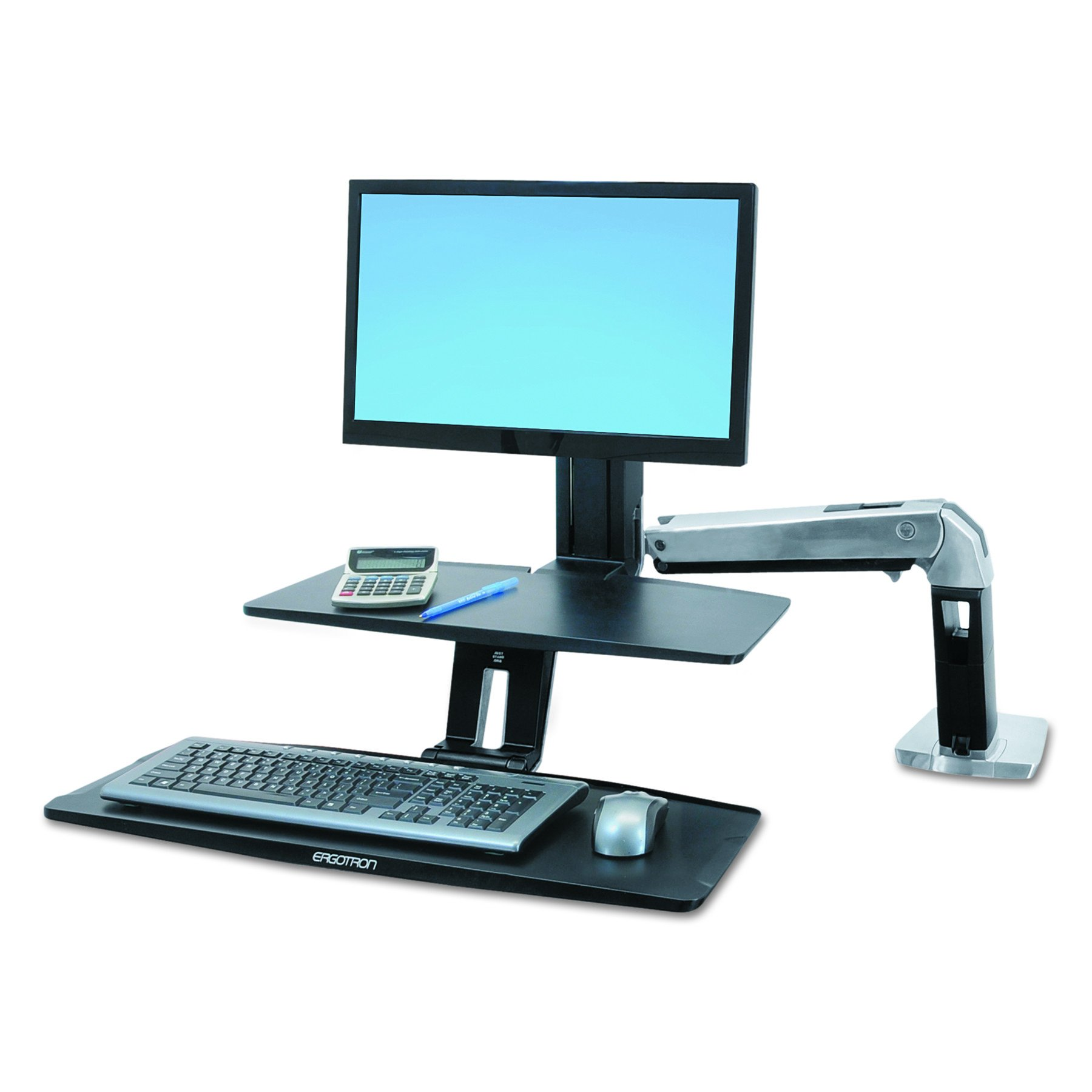 Ergotron WorkFit-A with Suspended Keyboard, Single LD (24-390-026) by Ergotron