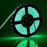 NachunLLC 16.4 Feet Green SMD 5050 Waterproof Led Strip lights, DC 12Volt LED Flexible Lighting Strip, 5 Meters 300Leds