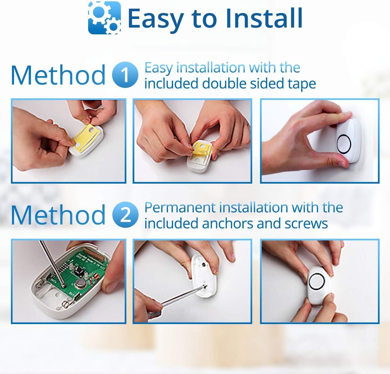 Wireless Doorbell by SadoTech – Waterproof Door Bells & Chimes Wireless Kit – Over 1000-Foot Range, 52 Door Bell Chime, 4 Volume Levels with LED Flash – Wireless Doorbells for Home – Model C