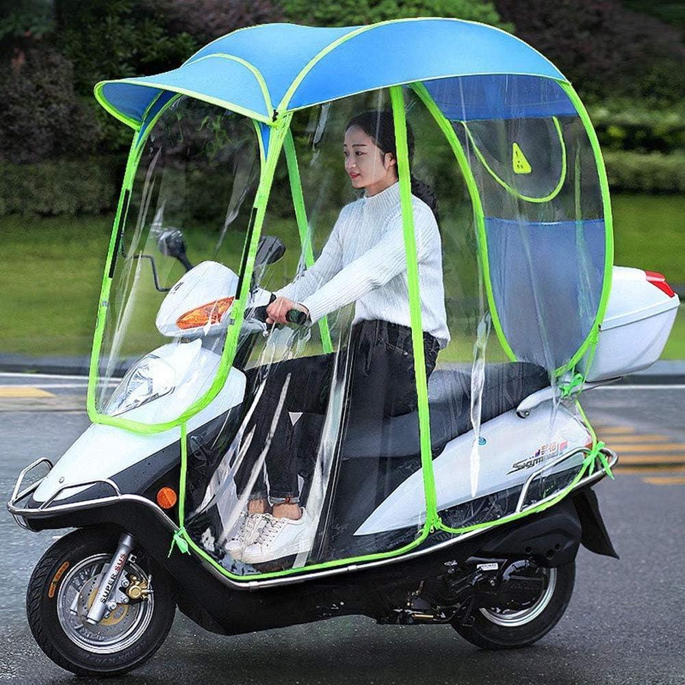 Wasserdichter Regenschirm,Blau,A Roller Motorrad-Regenschutz MILECN Vollst/ändig Geschlossenes Transparentes Elektroauto-Verdeck Universalmotor Sonnenschutz-Regenschutz F/ür Radfahrer
