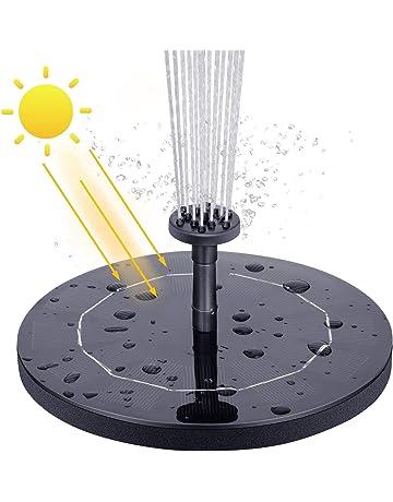 VITCOCO Fuente Solar, 2.1 W Kit Bomba Agua Solar, Fuente Solar Jardin con 6