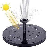 VITCOCO Fuente Solar, 2.1 W Kit Bomba Agua Solar, Fuente Solar Jardin con 6 Boquillas para Estanque, Jardin, Pajaros