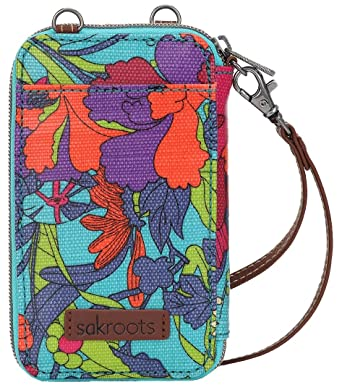 663b32db1dca Sakroots Artist Circle Smartphone Wristlet Convertible Cross Body Bag (Aqua)