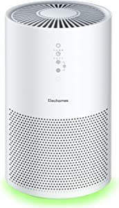Elechomes EPI236 Pro Series Air Purifier for Large Room with True HEPA Filter, Air Cleaner for Pets, Smokers, Pollen for Bedroom Home Office 280 ft², Smart Air Sensor, Auto Mode, Timer