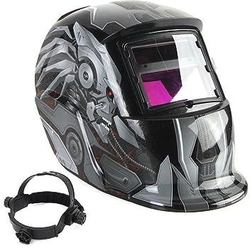 Energía Solar Auto careta de seguridad para soldar DPWELL casco de desbaste para soldador ARC MIG máscara de seguridad para soldar: Amazon.es: Bricolaje y ...
