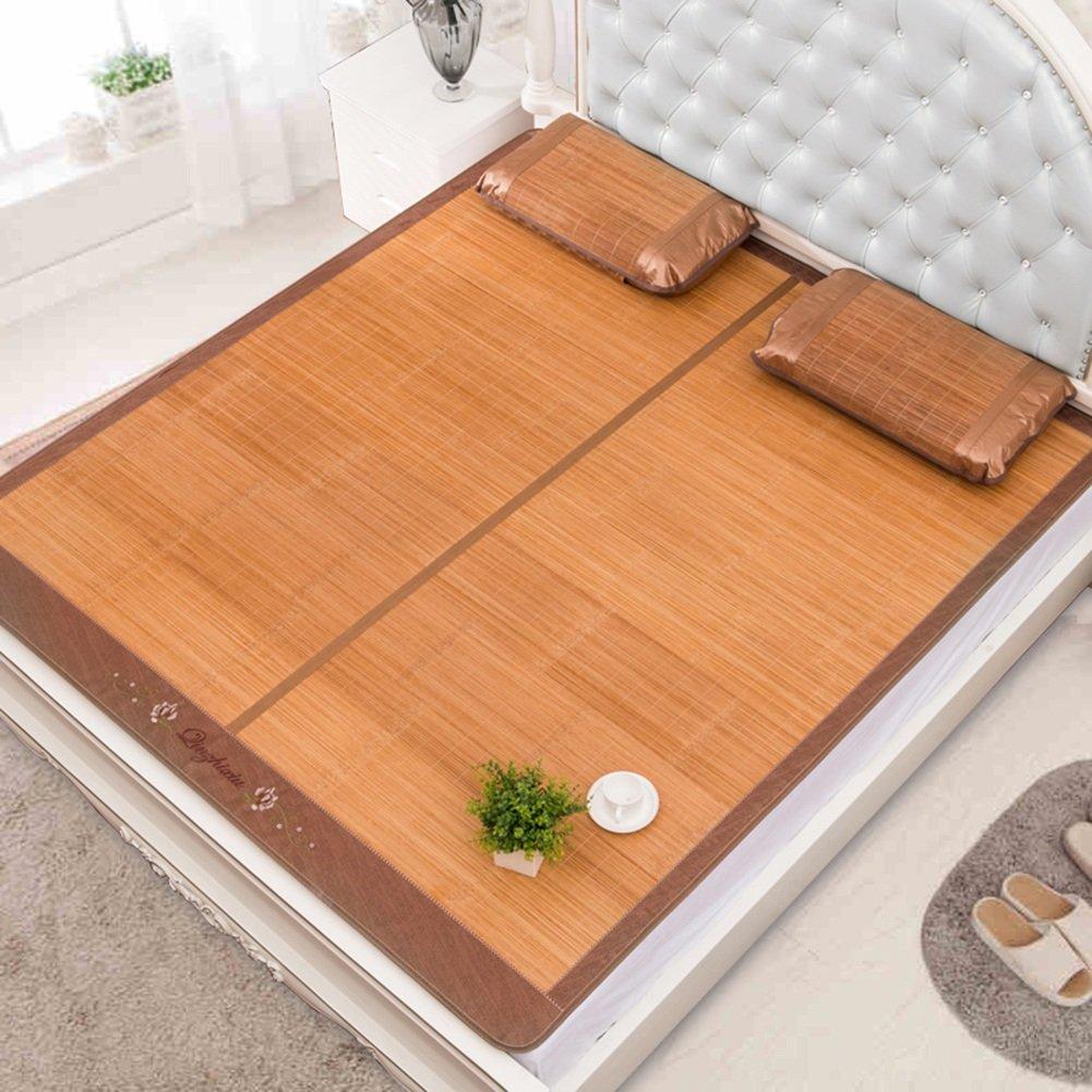 WENZHE Bambus Matratzen Sommer-Schlafmatten Strohmatte Teppiche Carbonisierungsprozess Zusammenklappbar Doppelseitige Verwendung Zuhause Schlafzimmer Schüler Schlafsaal, 8 Größen (größe : 1.8×2.2m)